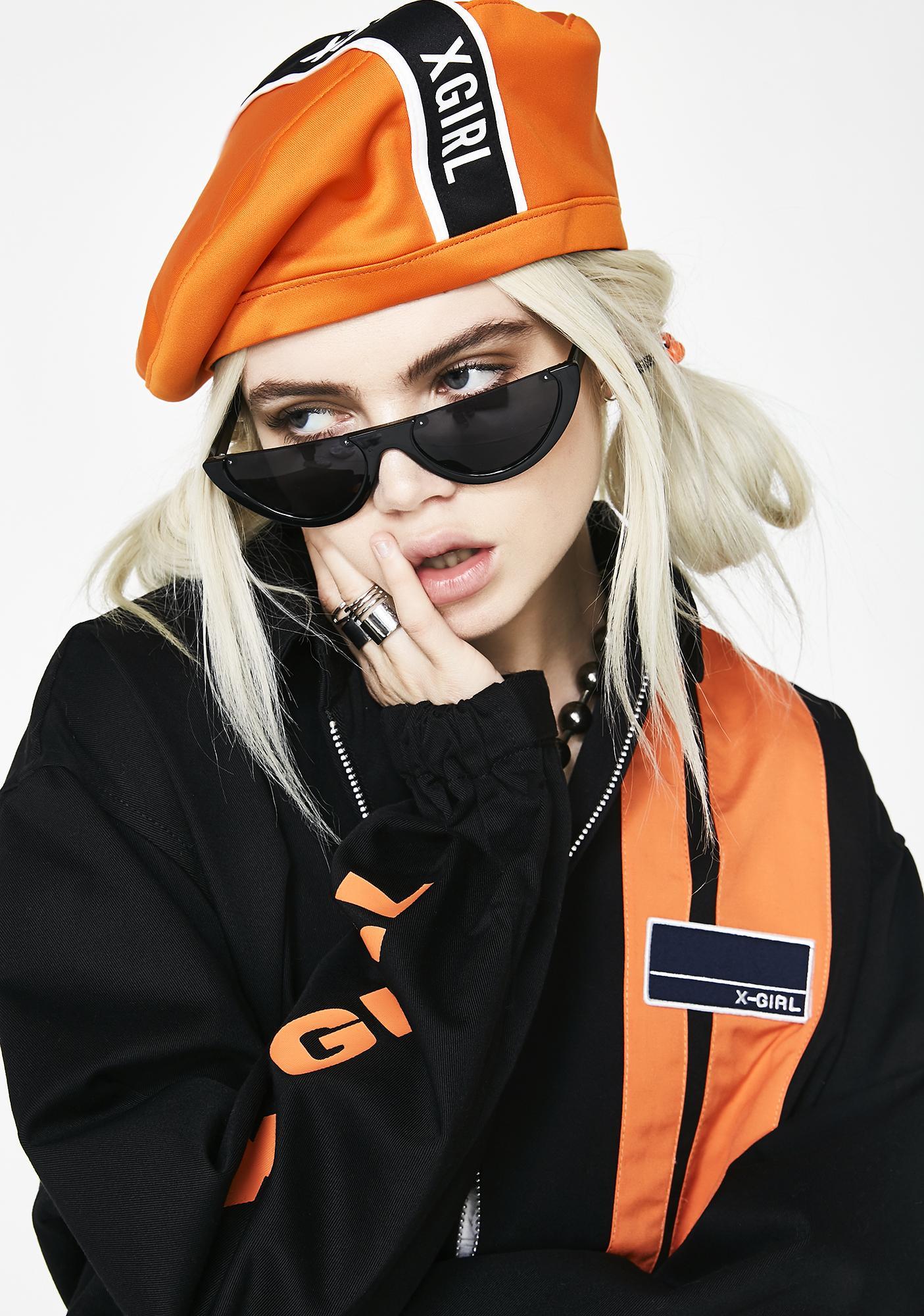x-Girl Line Logo Beret