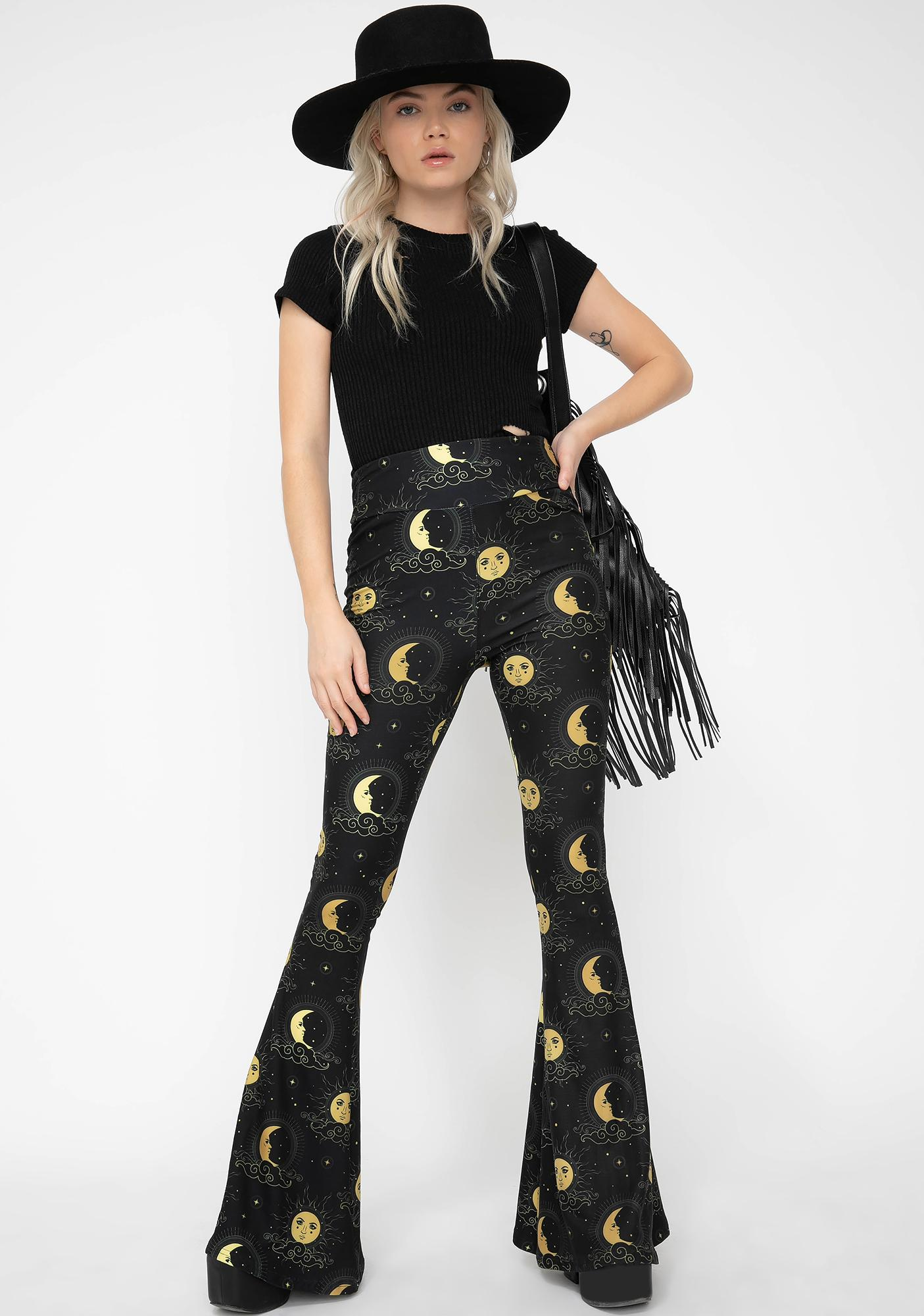 Too Fast Heavenly Moon Celestial Bell Bottoms