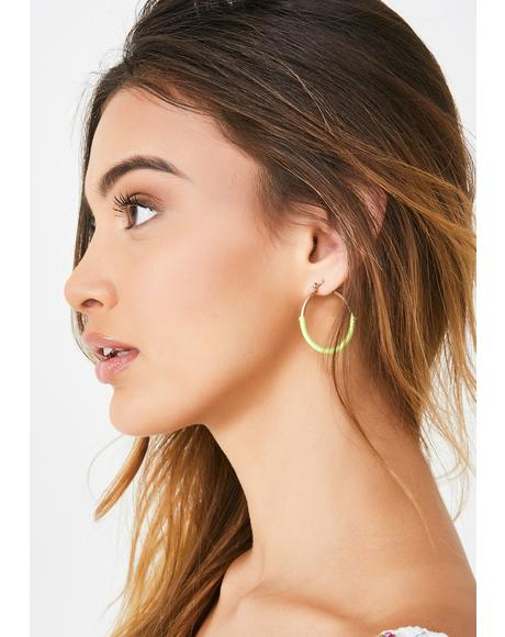 Goin' Steady Hoop Earrings