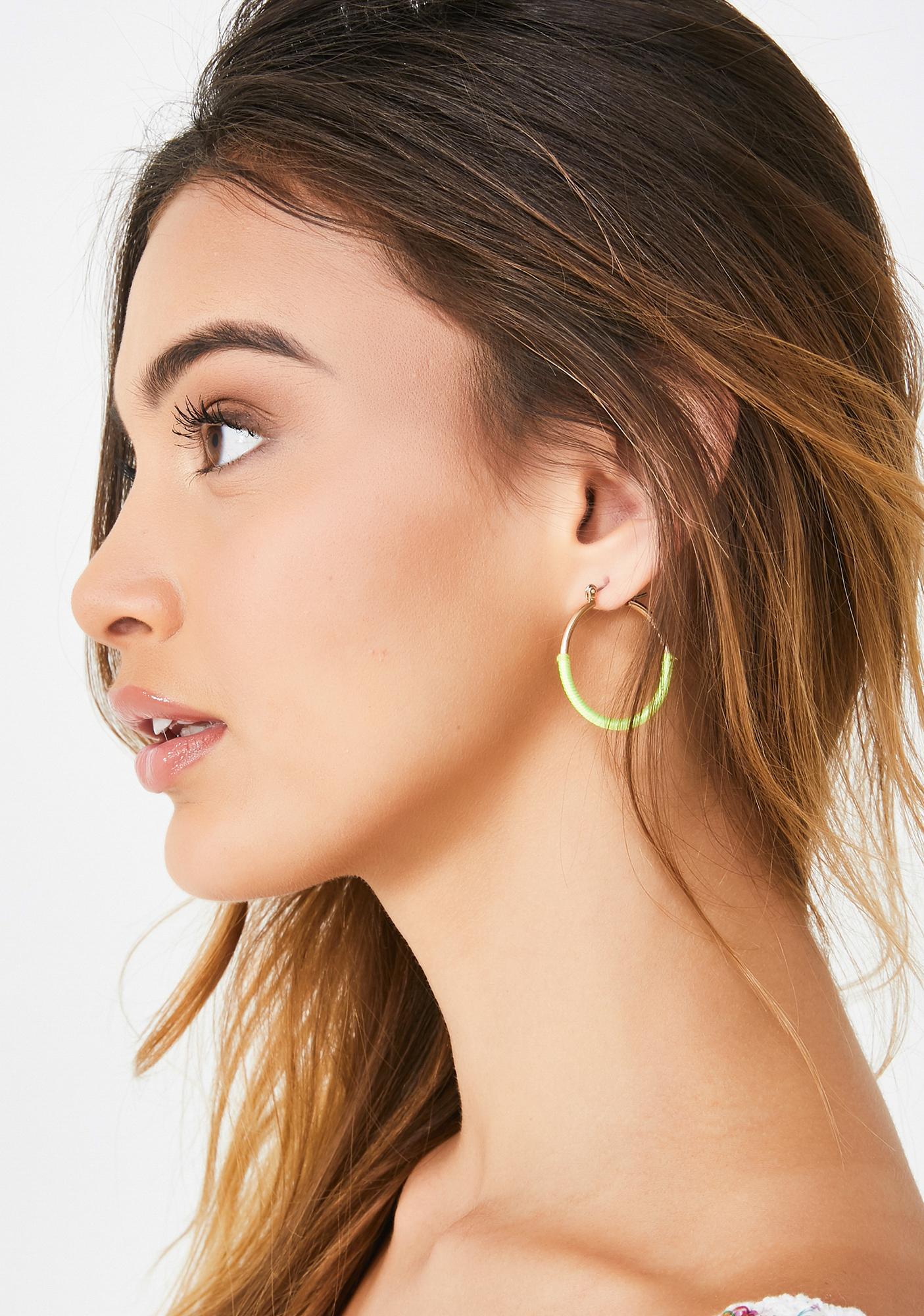 Goin' Steady Hoop Earrings
