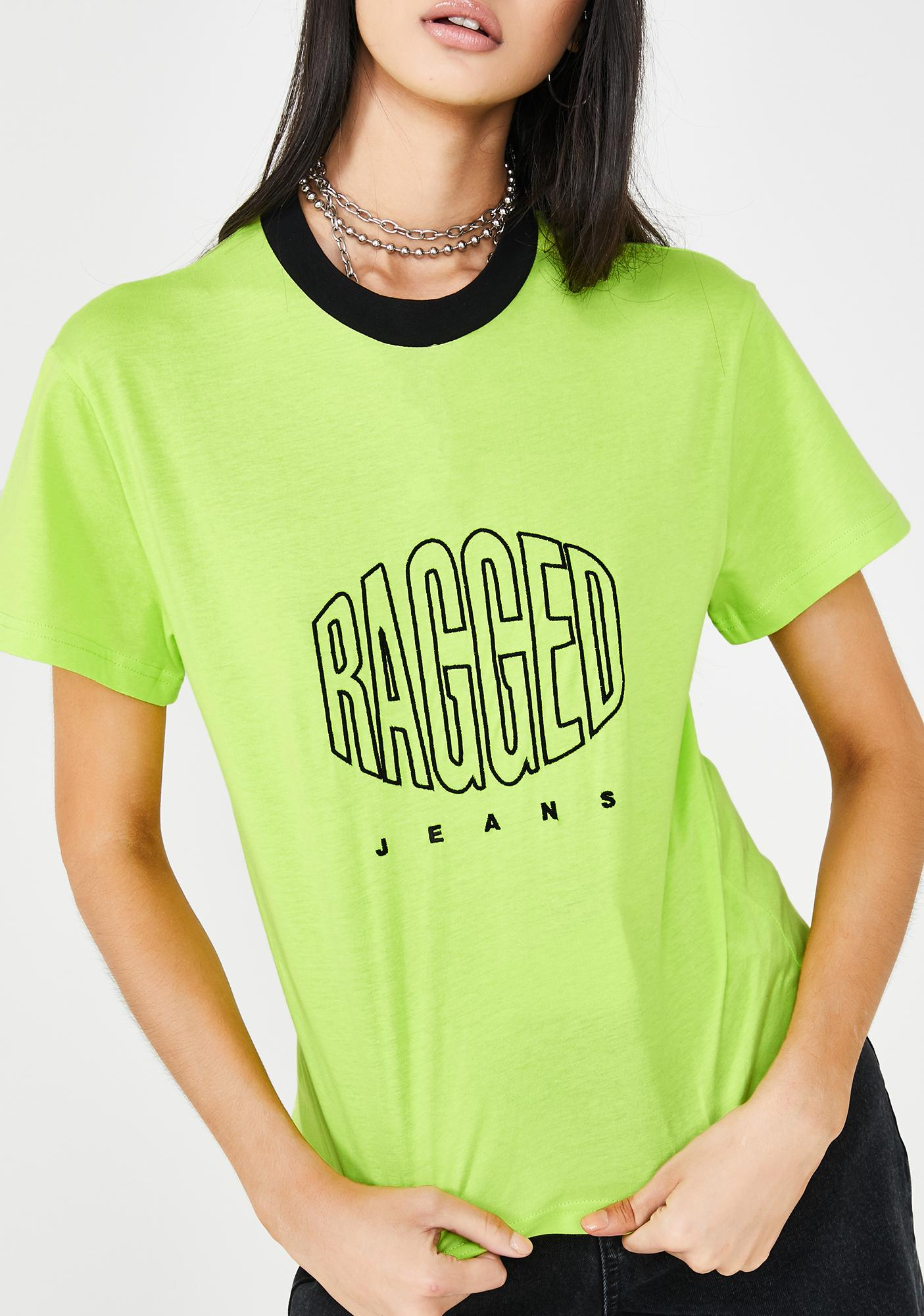 The Ragged Priest Lime Logo T-Shirt