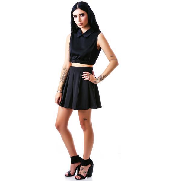 EZ Breezy Pleated Skater Skirt