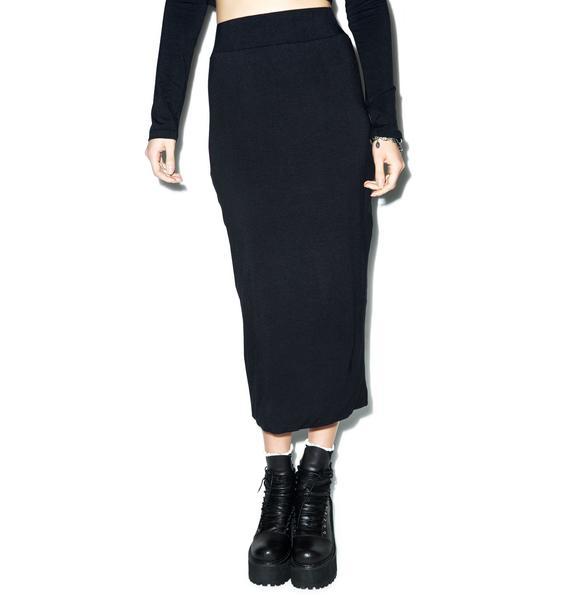 BLQ BASIQ Midnight Midi Pencil Skirt