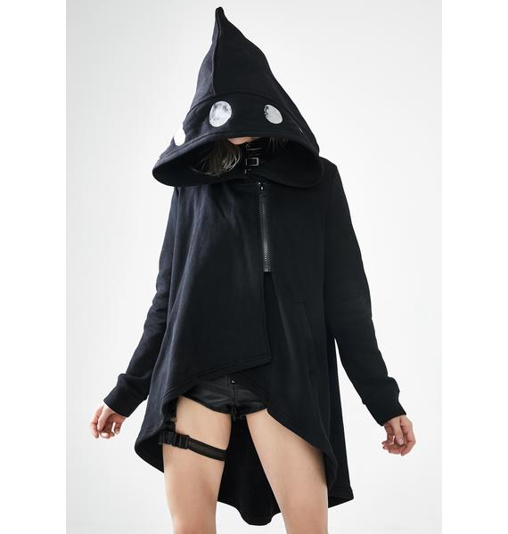 Punk Rave Moon Graphic Hooded Cloak