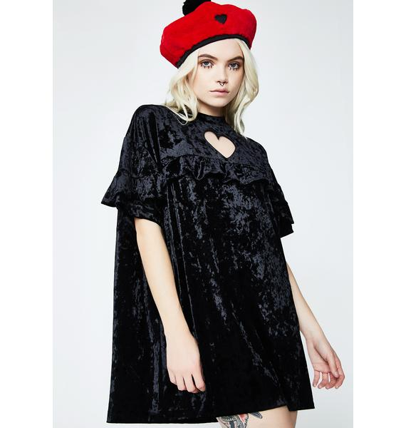 Lazy Oaf Crushed Heart Frilly Tee