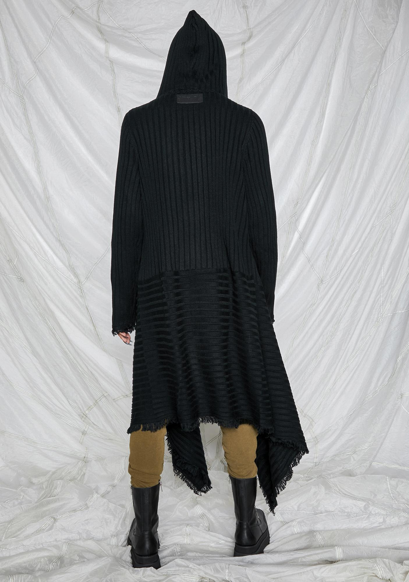 DARKER WAVS Synth Unisex Hooded Longline Cardigan