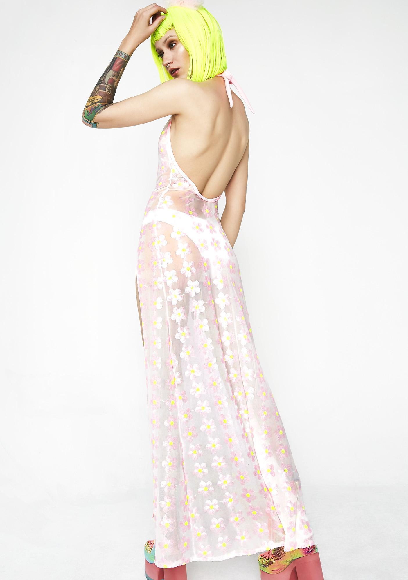 J Valentine Daisy Mesh Gown