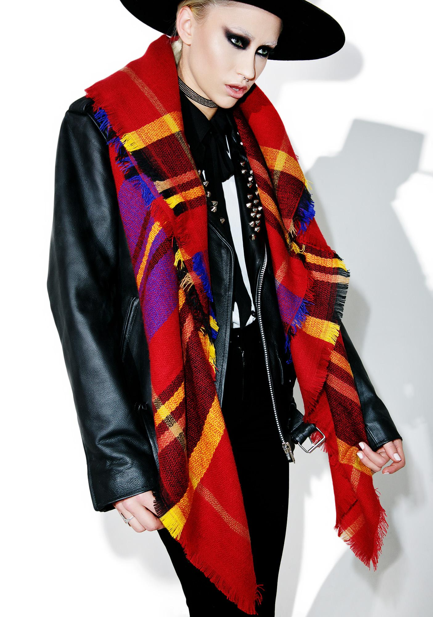 Collegiate Plaid Scarf