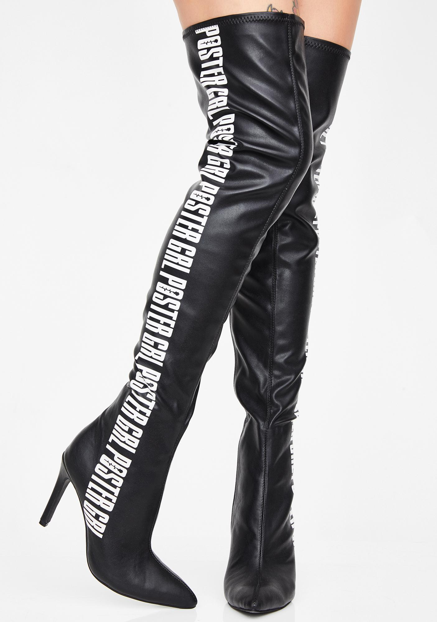 Poster Grl Label Qween Thigh High Boots
