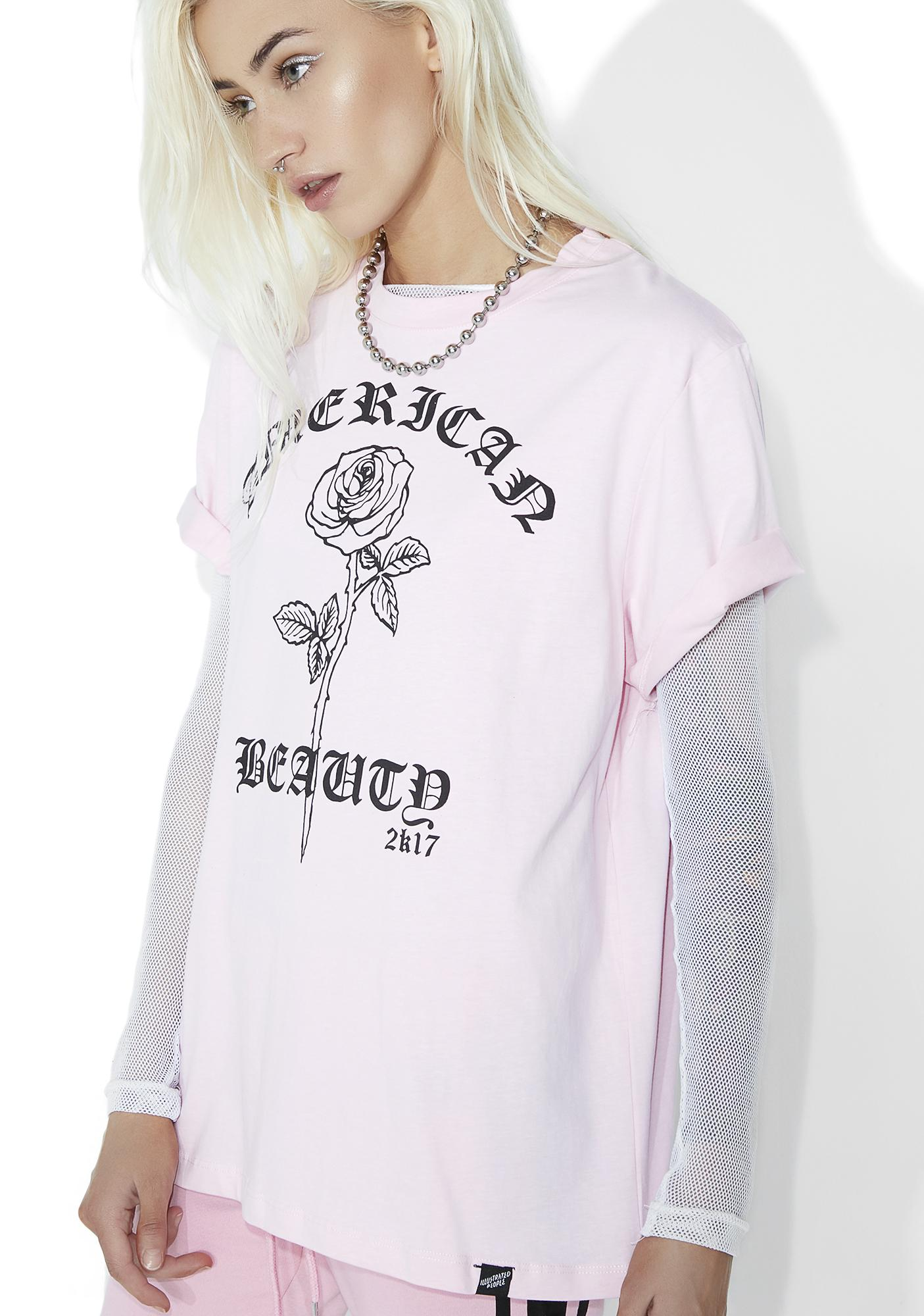 Illustrated People American Beauty Girlfriend Tee