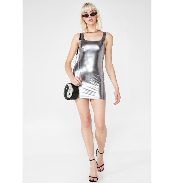 Motel Rosie Metallic Dress