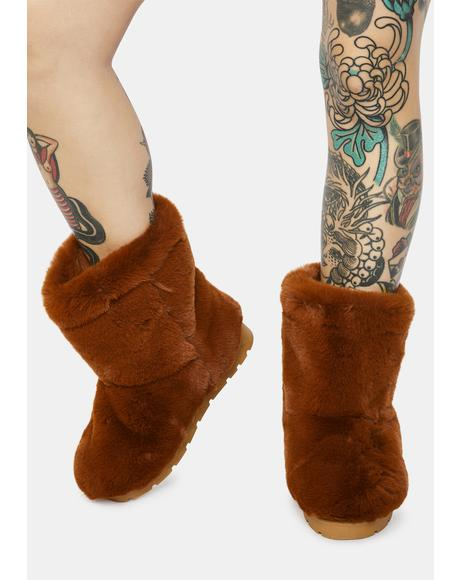 Copper Don't Bother Me Faux Fur Boots