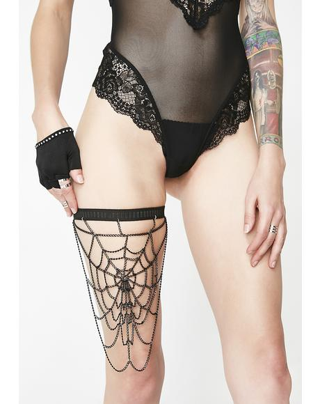 Dark Web Leg Harness