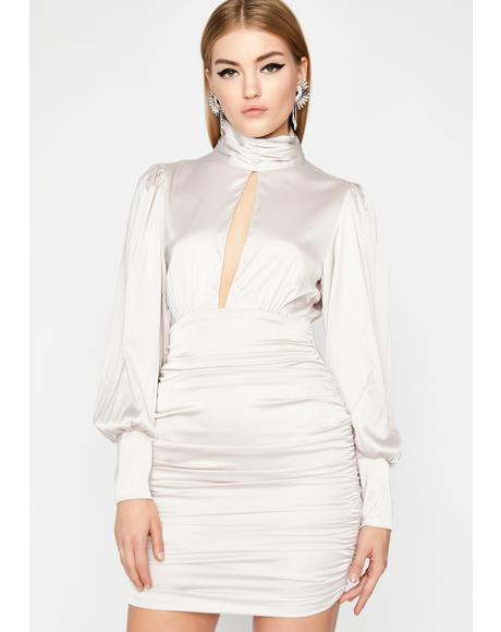 Icy Decadent Life Ruched Dress