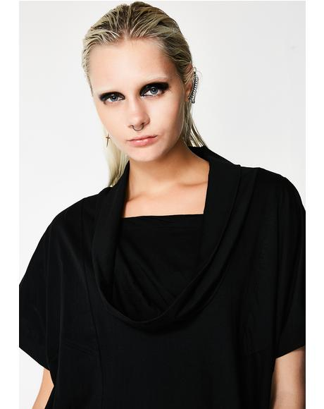 Onyx Invictus Cowl Neck Top