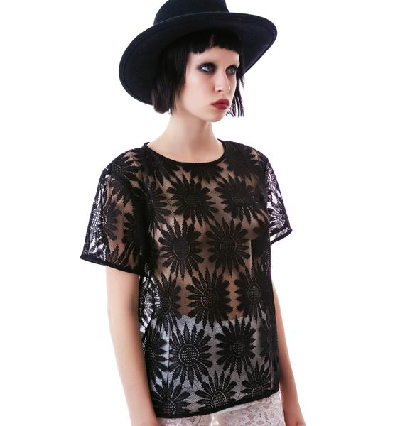 Motel Plazma Sunflower Lace Tee