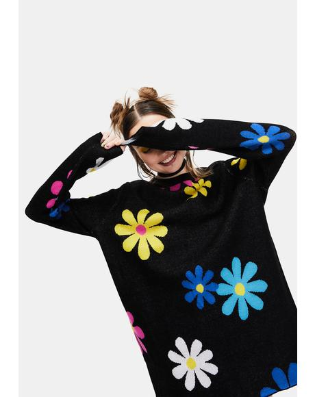 Flower Power Intarsia Sweater