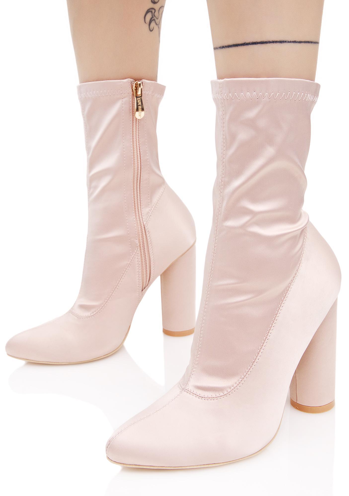 Seraphim Satin Boots