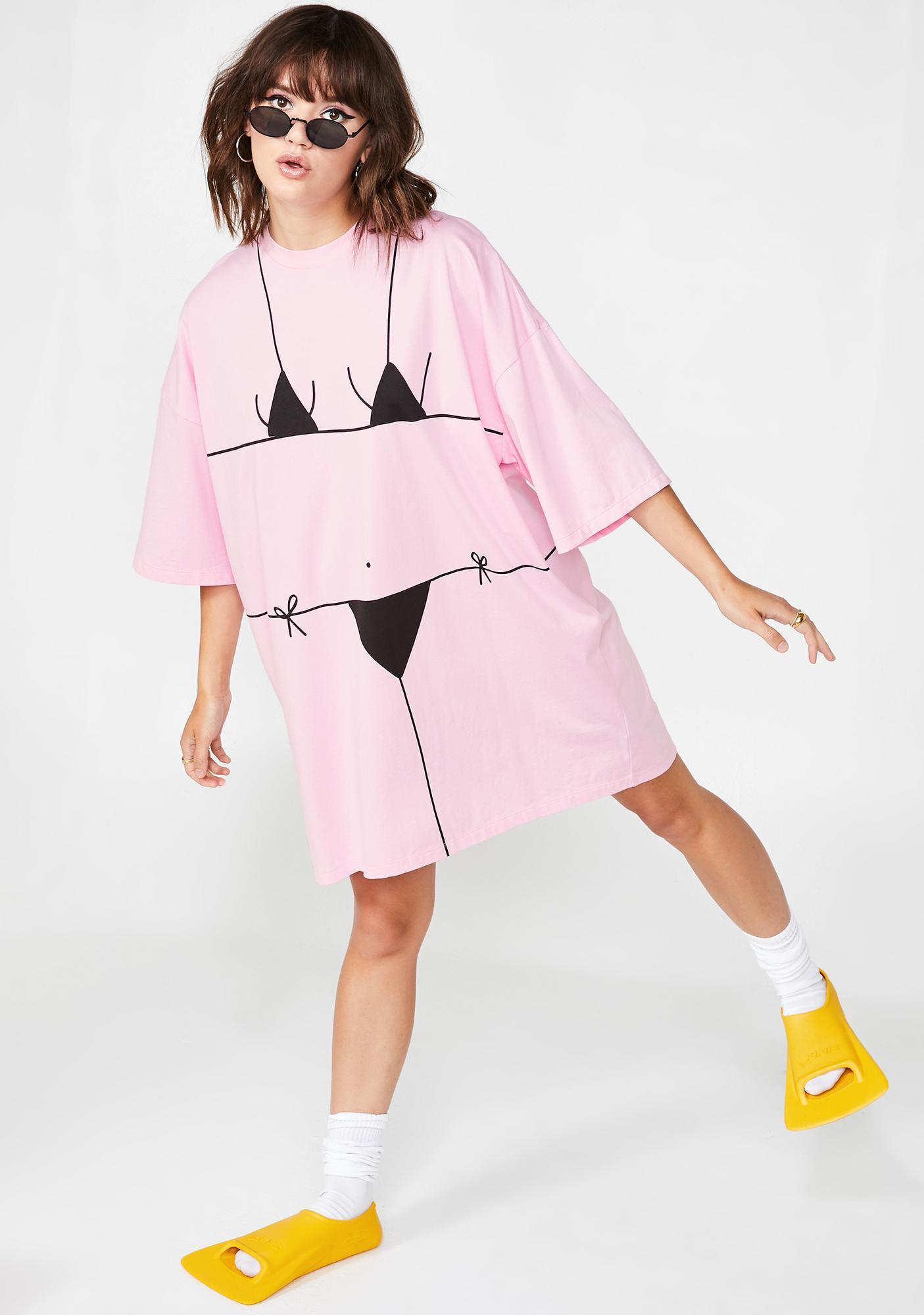 Lazy Oaf Baby Beach Bum T-Shirt Dress