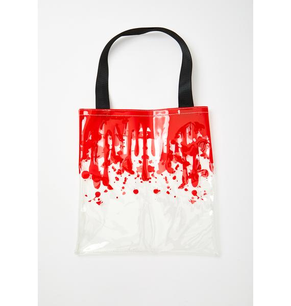 Dolls Kill Blood Pressure Clear Tote
