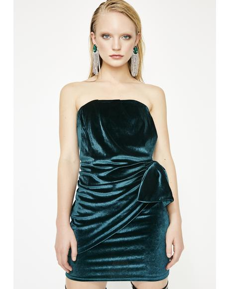 Magnetic Magic Velvet Dress