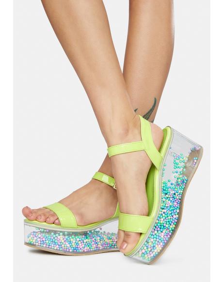 Free Falling Platform Sandals