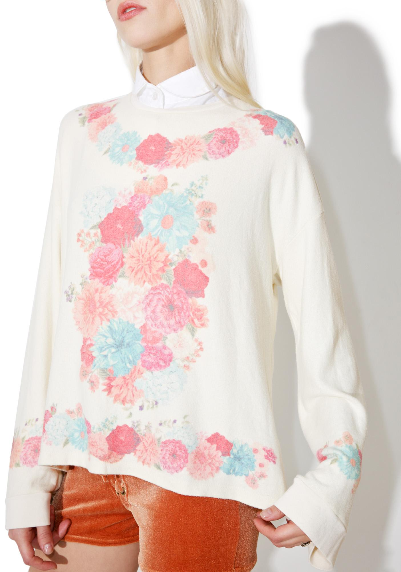Wildfox Couture Flower Frame Golden Top