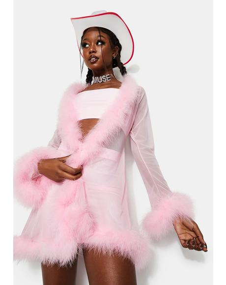 Baby Spice Feather Robe