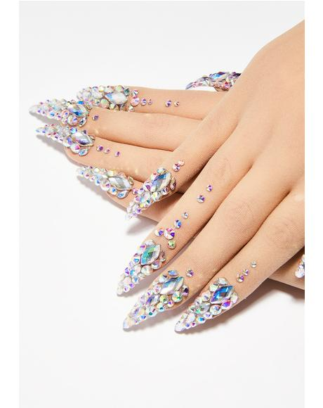 Diamante Nail Gloves