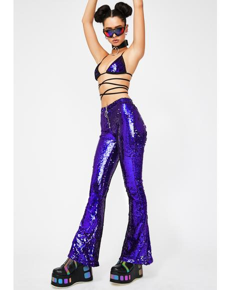 Infinity Dream Sequin Flares