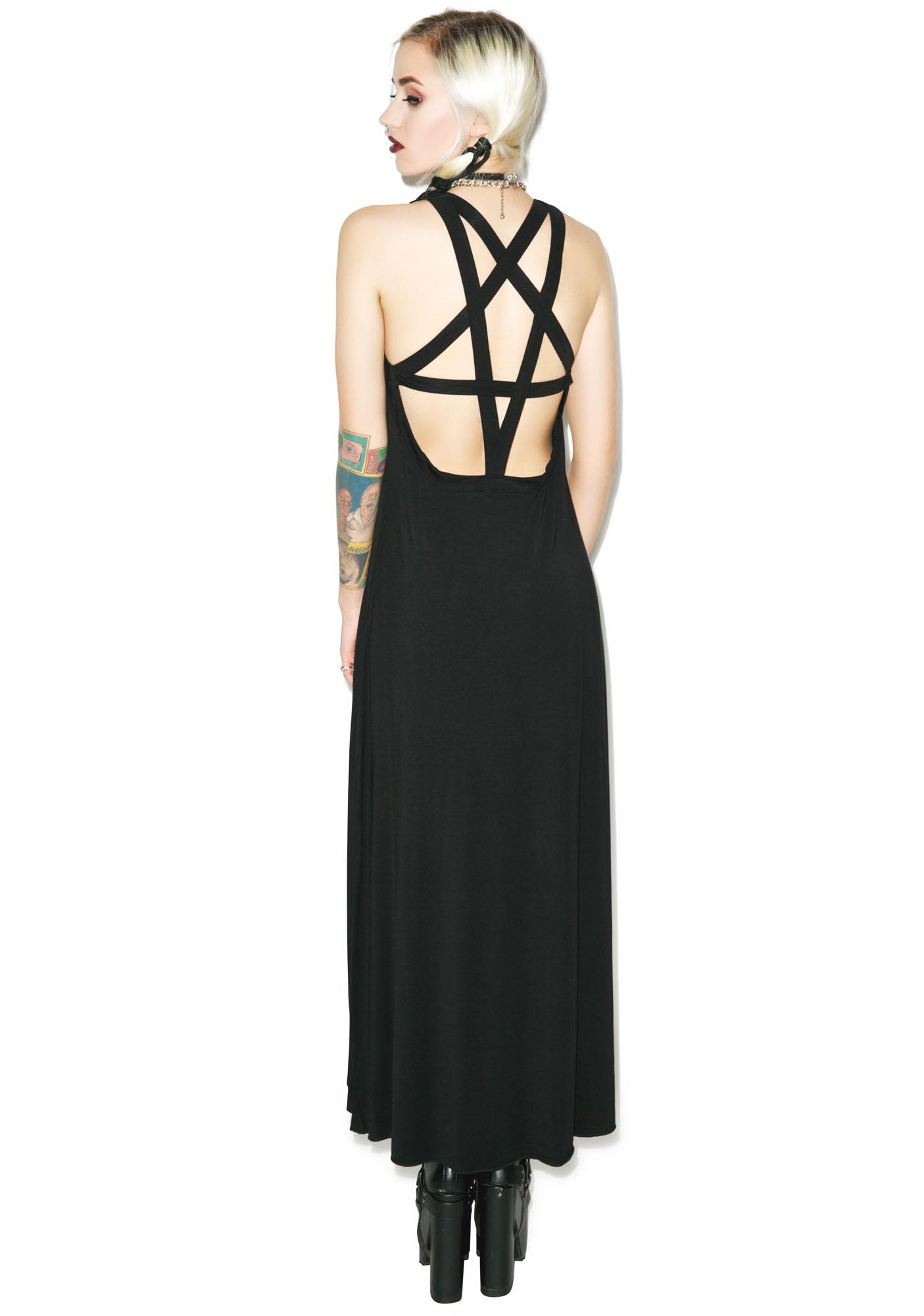 Killstar Pentagram Maxi Dress