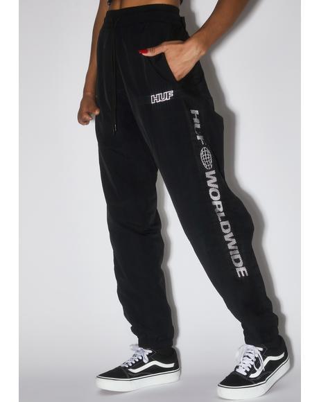 Black Marathon Track Pants