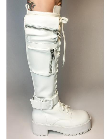 Polar Obsidian Pocket Combat Boot