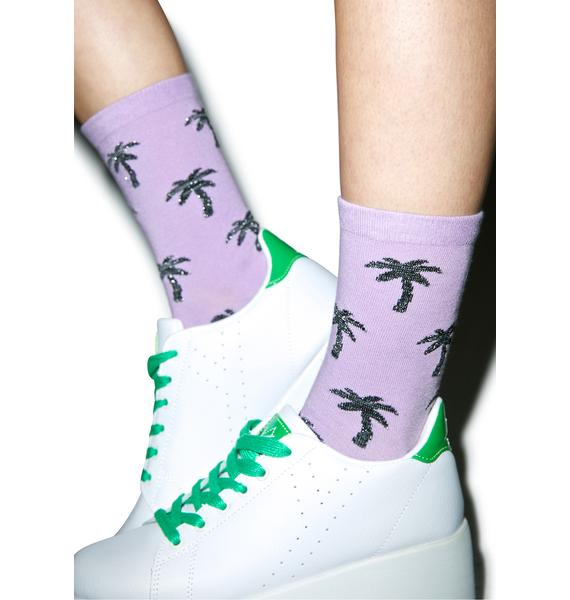 Local Heroes Glitter Palms Socks