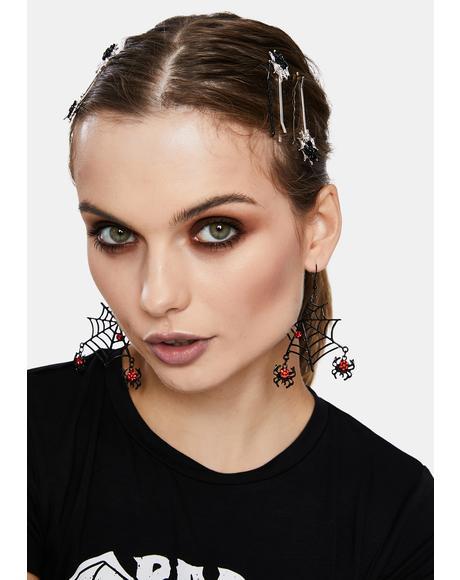 Worldwide Web Drop Earrings