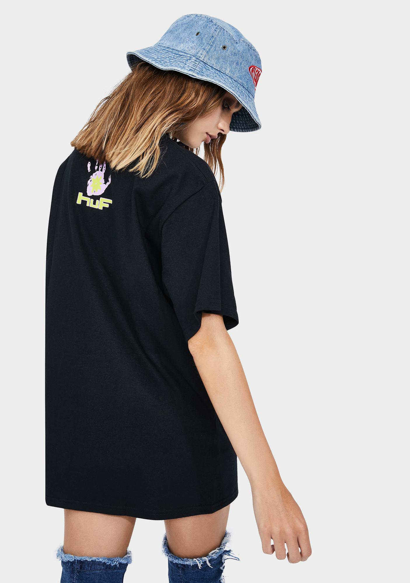 HUF Black Deep House Graphic Tee