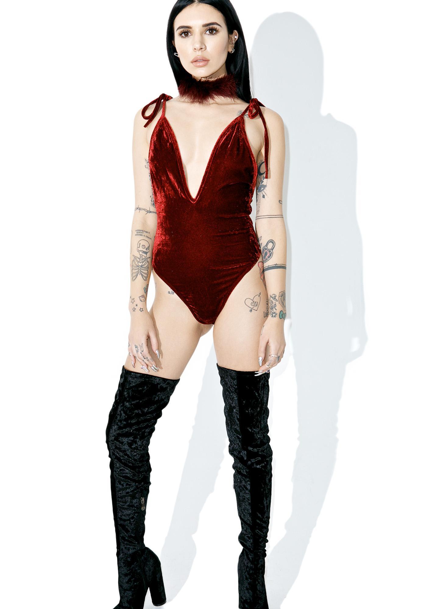 Candy Velvet Bodysuit