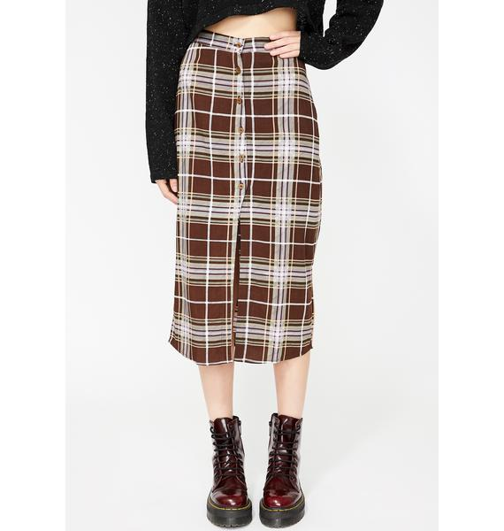 Motel Kaisa Plaid Skirt