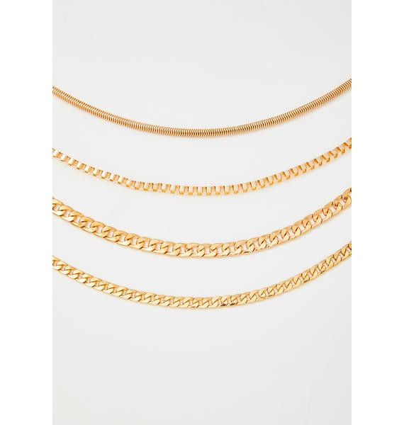Got It On Lock Chain Necklace