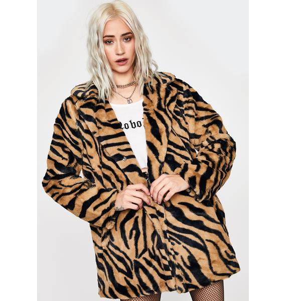 Deadliest Catch Faux Fur Coat