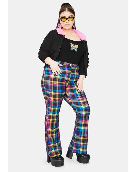 Get Into The Groove Plaid Pants