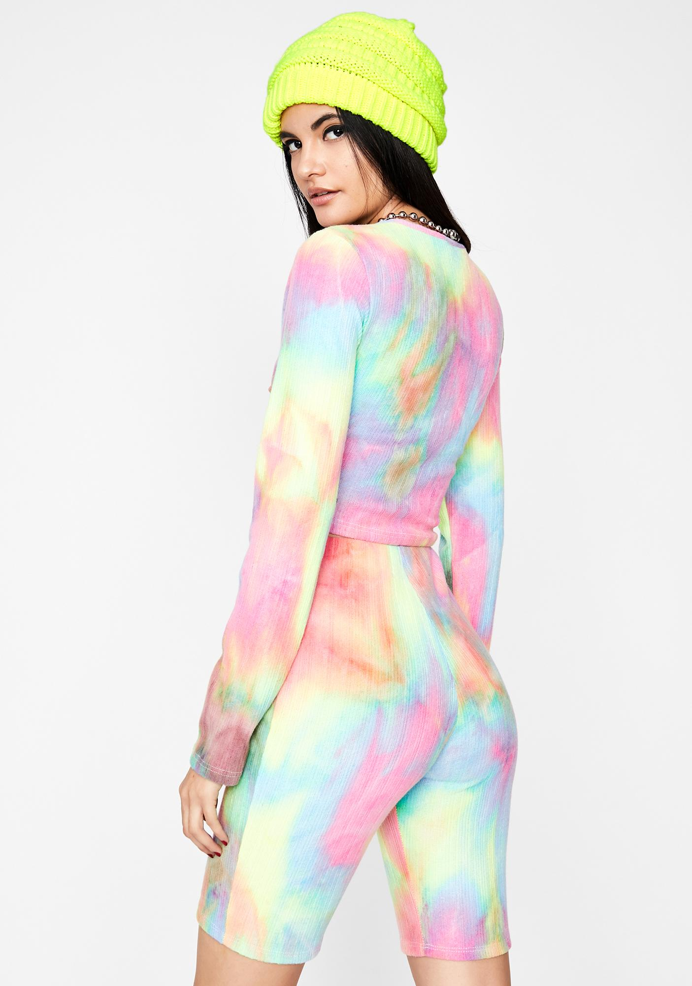 Darling Daze Tie Dye Shorts Set