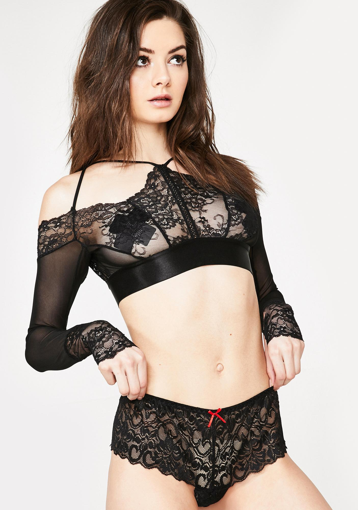 Dark Nobody's Baby Lace Panties