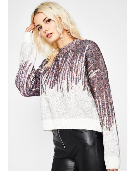 Cosmic Icicles Tinsel Sweater