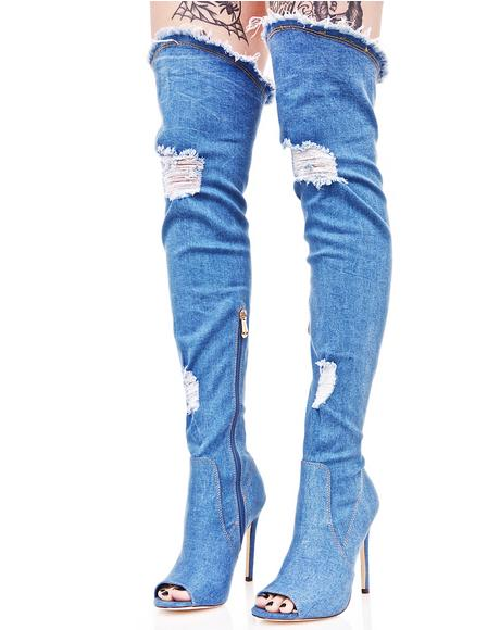 All Mine Thigh-High Boots