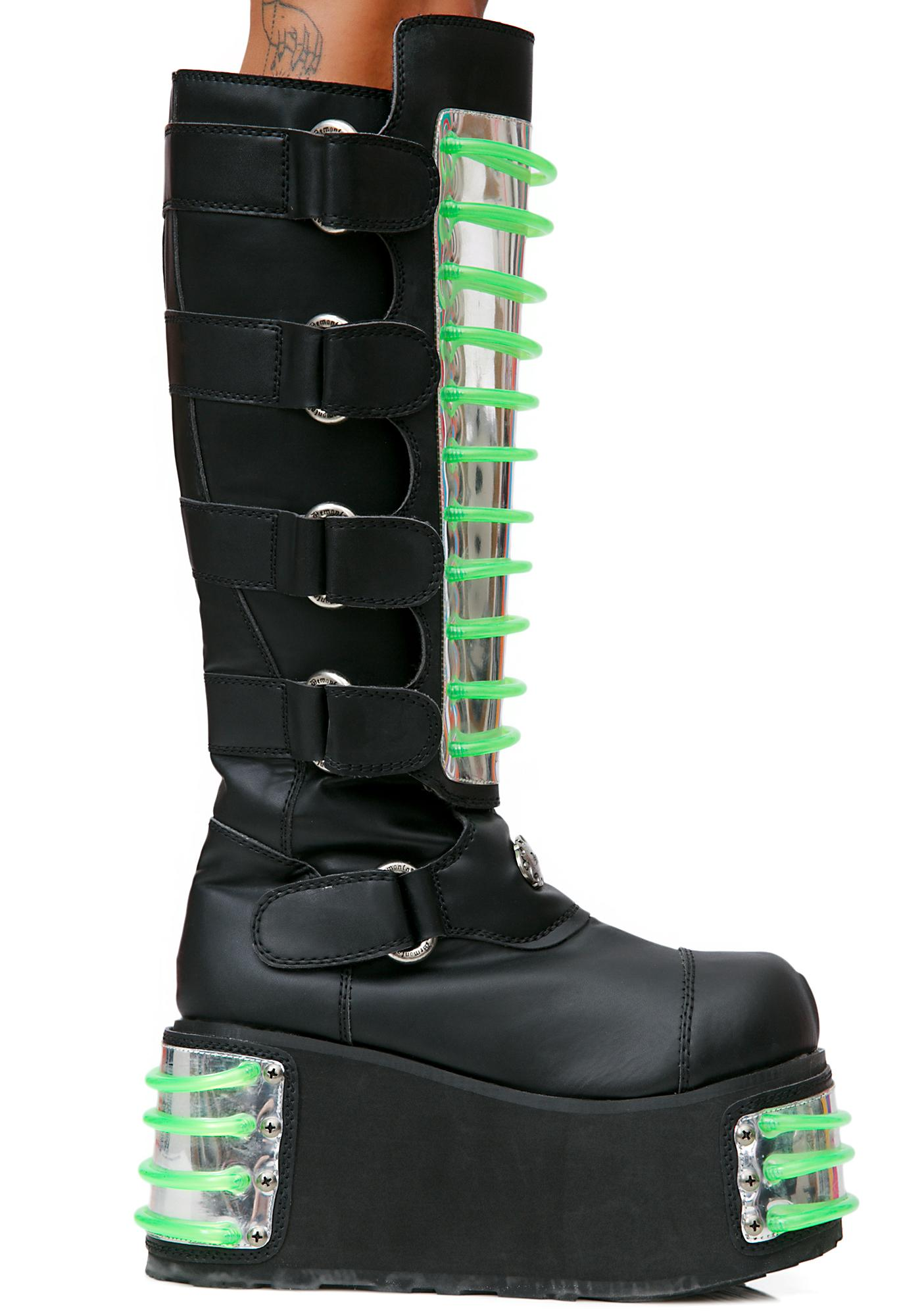 Demonia Techno UV Platform Boots