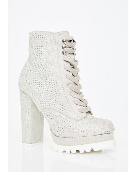 Electric Deadly Angel Combat Boots