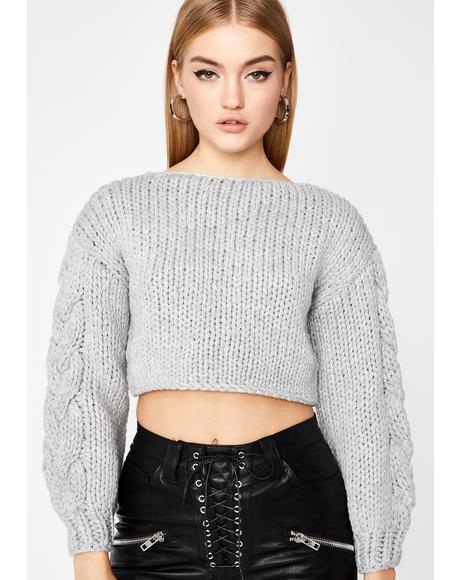 Dove Slay Season Crop Sweater