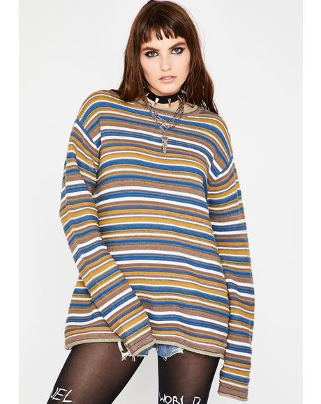 What The Hell Striped Sweater