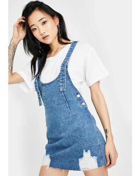 Ryder Denim Pinafore Dress